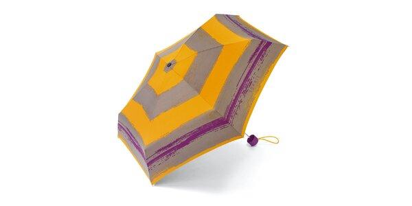 Pruhovaný skladací dáždnik Esprit