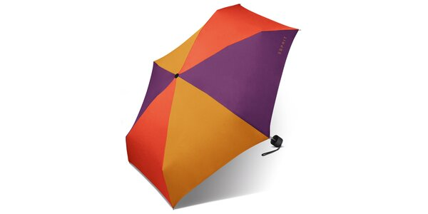 Trojfarebný skladací dáždnik Esprit