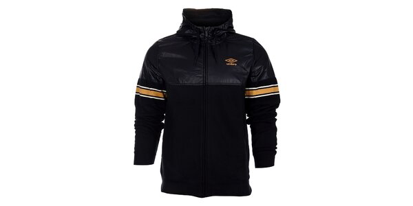 Pánska čierna bunda Umbro s oranžovými detailami