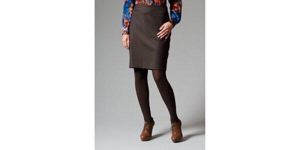 Dámska hnedá púzdrová sukňa Pietro Filipi