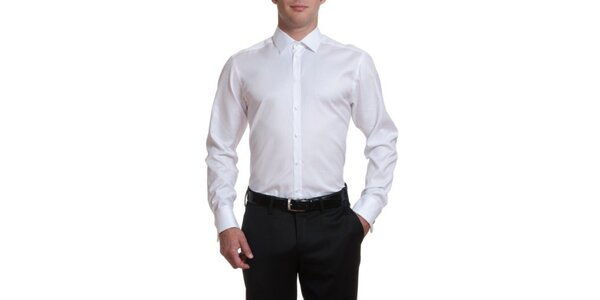 Pánska biela bavlnená košeľa Pietro Filipi