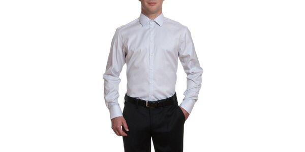 Pánska šedobiela bavlnená košeľa Pietro Filipi