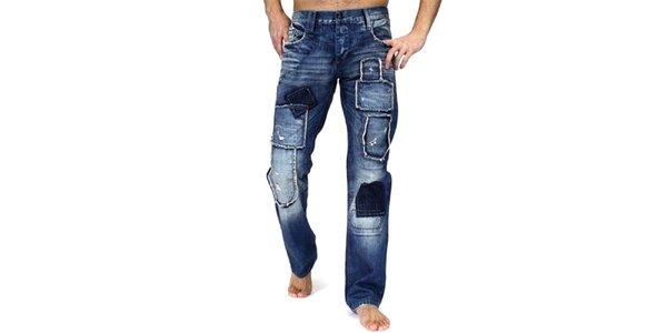 Pánske tmavomodré nohavice Cipo & Baxx