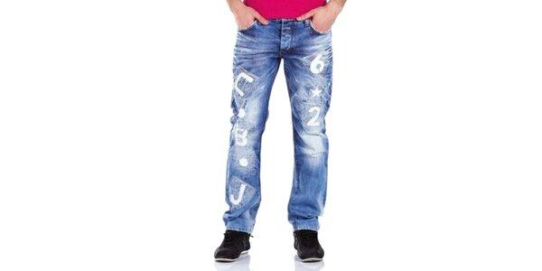 Pánske bledomodré nohavice Cipo & Baxx