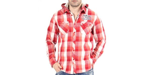 Pánska červená košeľa Cipo & Baxx
