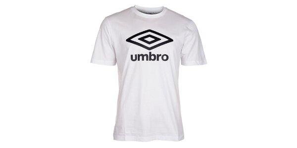Pánske biele tričko Umbro s čiernym logom