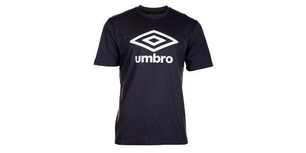 Pánske antracitové tričko Umbro s bielym logom