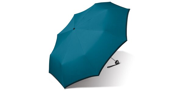 Dámsky tyrkysovo modrý dáždnik Esprit s čiernym lemom