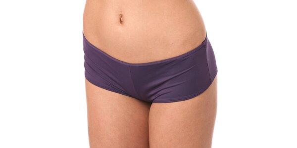 Dámske fialové nohavičky Marlies Dekkers s kovovými plátikmi