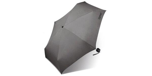 Dámsky svetlo šedý dáždnik Esprit s čiernym logom