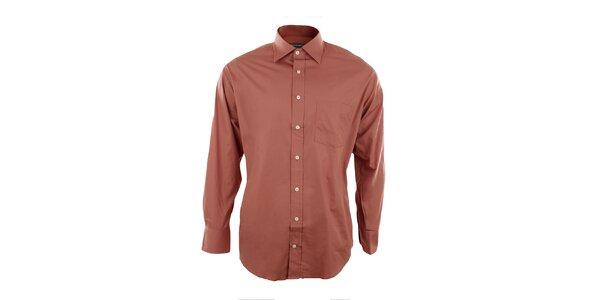 Pánska oranžová košeľa Perry Ellis