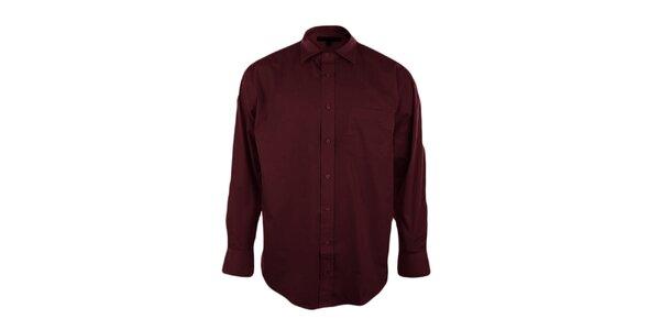 Pánska vínová košeľa Perry Ellis