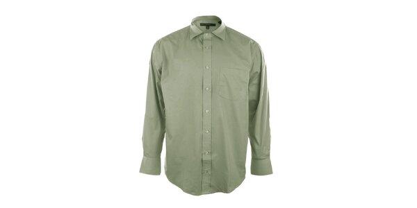 Pánska košeľa v kaktusovej farbe so špicatým límčekom Perry Ellis