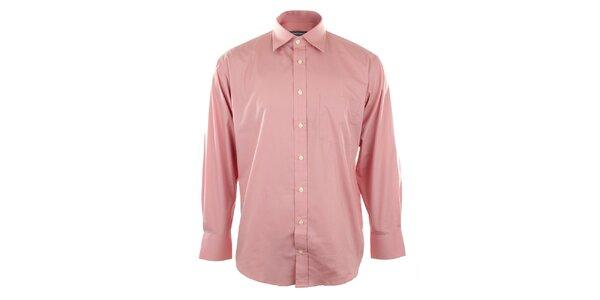 Pánska ružová košeľa so špicatým límčekom Perry Ellis