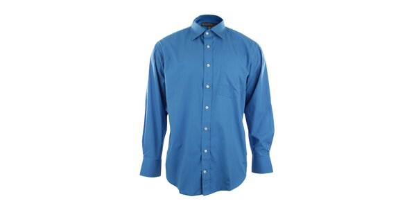 Pánska tmavo modrá košeľa so špicatým límčekom Perry Ellis