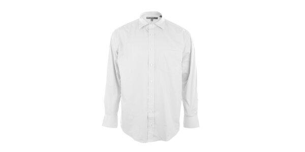 Pánska košeľa v snehobielej farbe Perry Ellis