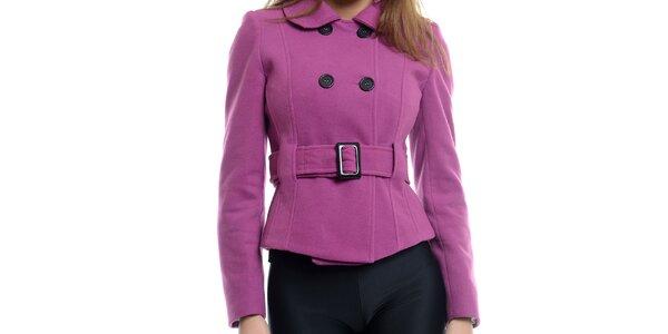 Dámsky krátky ružový kabátik s prackou Estella