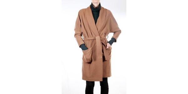 Dámsky ťaví kabát s opaskom Gene