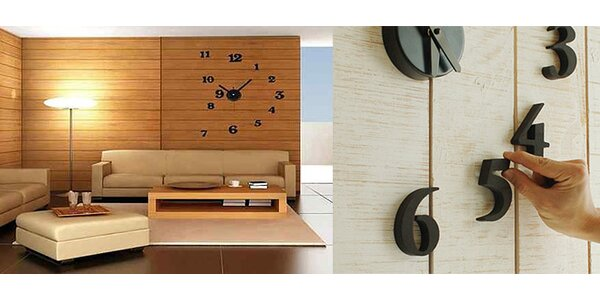 3D nástenné hodiny