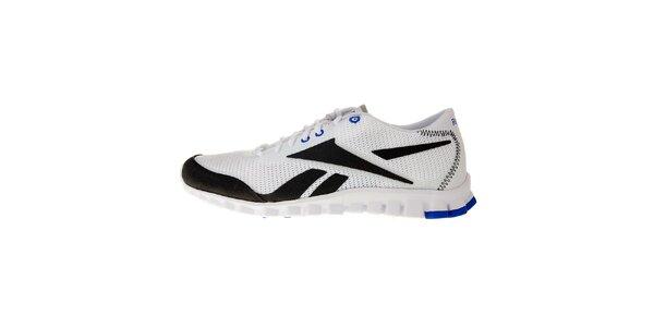 Pánske biele bežecké topánky Reebok s technologiou RealFlex