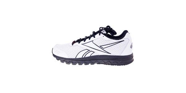Pánske biele bežecké topánky Reebok s čiernymi detailami