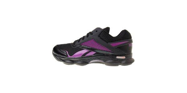 Dámske čierne bežecké topánky Reebok s technologiou RunTone