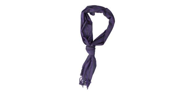 Dámska fialovo-čierna šatka Exe Jeans
