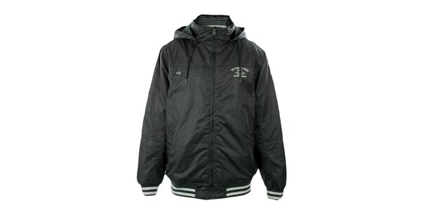 Pánska tmavo šedá bunda s kapucňou Exe Jeans