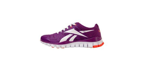 Dámske tmavo fialové tréningové topánky Reebok s technologiou RealFlex