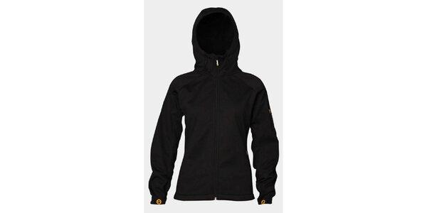 Dámska čierna softshellová bunda Sweep s kapucňou