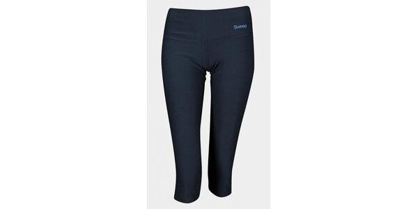 Dámske čierne 3/4 elastické nohavice Sweep