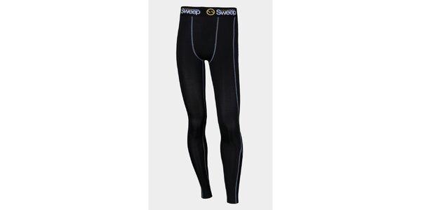 Pánske čierne elastické kompresné nohavice Sweep
