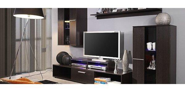 Moderná obývačková stena ROCO v 2 farbách