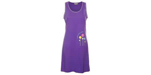 Dámska fialová nočná košeľa Isma