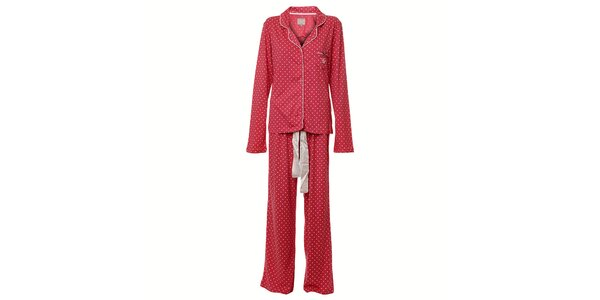 Dámske ružové bodkované pyžamo Vive Maria