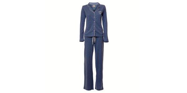 Dámske modré melírované pyžamo Vive Maria