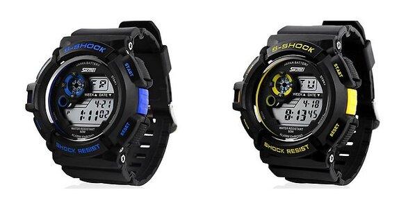 Štýlové digitálne hodinky s LED podsvietením