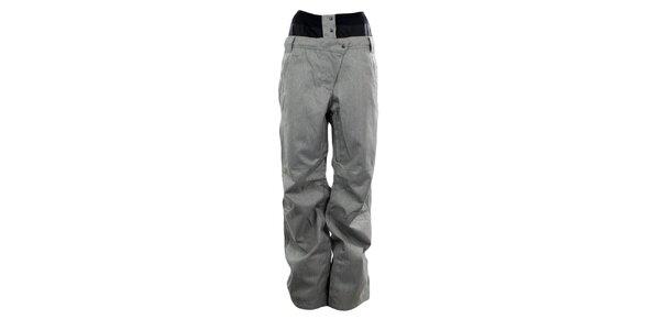 Dámske šedé membránové nohavice so vzorom rybej kosti Hannah