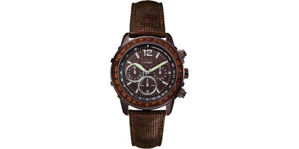 Dámske hnedé hodinky Guess