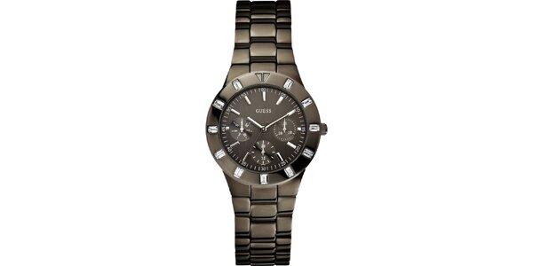 Dámske elegantné hodinky z ocele Guess