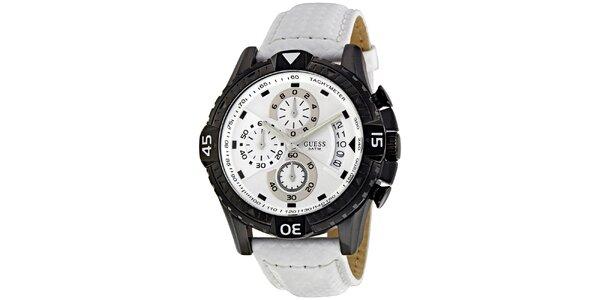 Pánske čiernobiele hodinky Guess