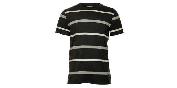 Pánske šedé pruhované tričko Hannah
