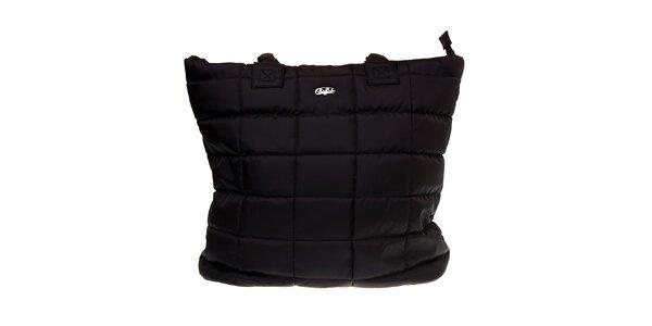 Dámska velká čierna prešívaná taška Buffalo