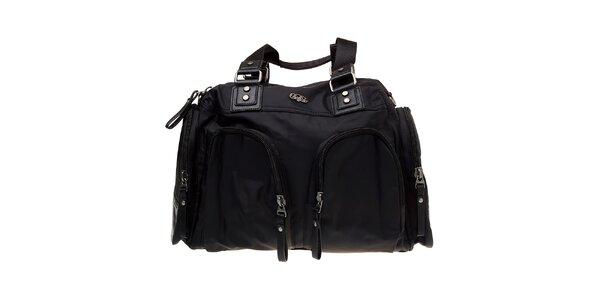 Dámska čierna nylonová taška Buffalo