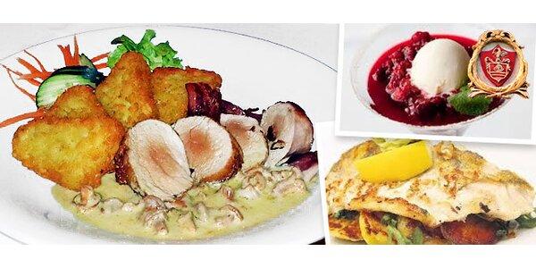 Zážitkové degustačné 3-chodové menu
