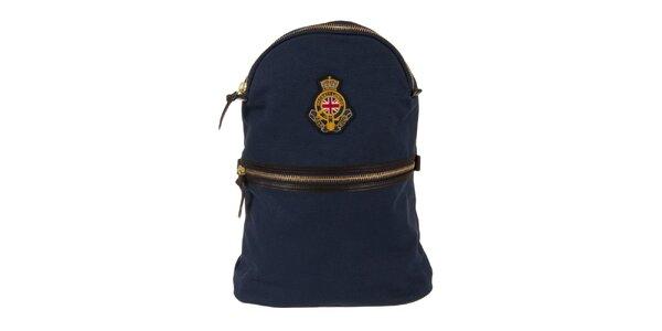 Pánsky tmavo modrý ruksak Hackett London