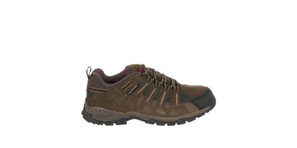 Pánska tmavo hnedá outdoorová obuv Praylas