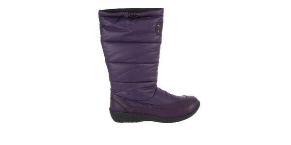 Dámske fialové zimné topánky Praylas