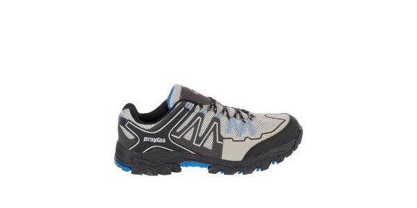 Pánska outdoorová obuv v odtieňoch šedej farby Praylas