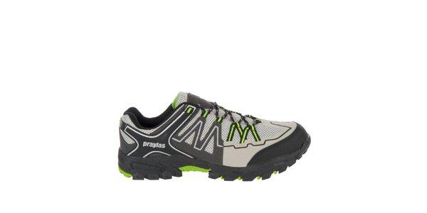 Pánska šedá outdoorová obuv Praylas
